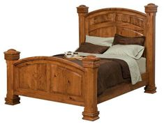 Amish Trenton Bed It doesn't get much grander than this. Fine Amish craftsmanship makes this bed possible, and you can rely on it to outlast the others. The colors are yours to choose with different wood types and stain colors offered.