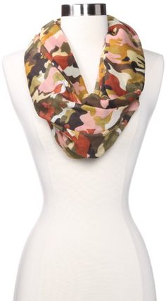 Amazon.com: D&Y Women's Multi Colored Camo Print Scarf, Olive, One Size: Clothing
