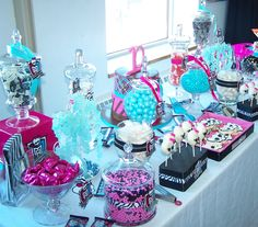 The Candy Buffet Company Inc Montreal  Monster High themed birthday, Monster High themed candy buffet, Monster High cookies, Monster High cake.