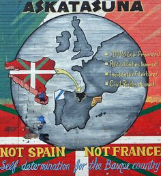 ETA calls for movement on Basque peace process Londonderry, Belfast, Bay Of Biscay, Asturian, Political Prisoners, Basque Country, My Heritage, Bilbao, Vintage Posters