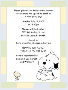 Snoopy and woodstock stork cute baby shower invitation printable baby shower invitation snoopy filmwisefo