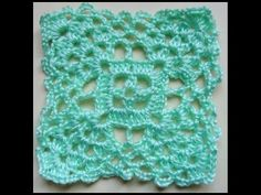 Crochet : Cuadrado # 5. Parte 1 de 2 - YouTube