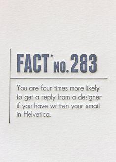 Made Up Stats Helvetica. Letterpress Card