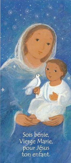 Sois bénie, Vierge Marie, pour Jésus ton enfant.