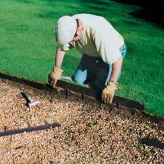 """Classic Everedge Lawn Edging at grandinroad.com; 16' for $100 (3"""" deep) or $130 (5"""" deep)"""