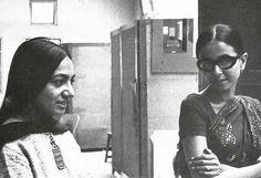 Artists Nasreen Mohamedi & Nilima Sheikh, 1980