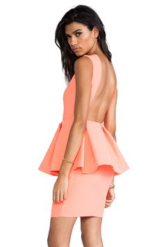 AQ/AQ Dee Dee Mini Dress in Pink Grapefruit from REVOLVEclothing