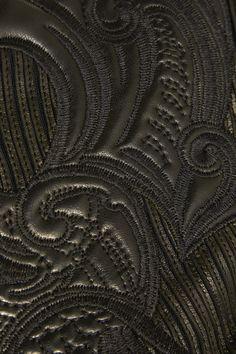 Roberto Cavalli|Embroidered leather dress|NET-A-PORTER.COM