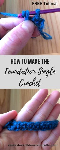 Learn how to make this revolutionary stitch—Foundation Single Crochet! It is my favorite way to start any crochet project.