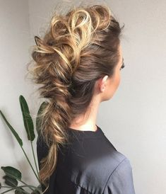 up do + messy fishtail