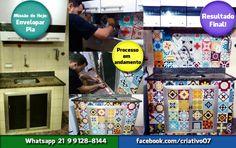 Envelopamento e Renovação de ambientes executado com adesivos de vinil