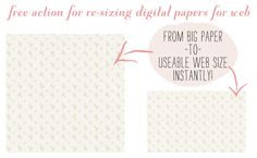 photoshop action to resize papers for web or blog backgrounds