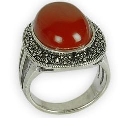 Rings for Women Red Onyx Gemstone Indian Jewelry Gifts Us Size 3 1/2: Jewelry: Amazon.com