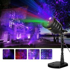 Amazon.com: Suaoki Laser Light Blue Aurora Borealis Projector Red/Green Star Projector with Remote Control, Timer, Waterproof for Christmas Xmas Holiday Party Garden Decoration: Home Improvement