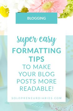 How to format blog posts so that visitors will stick around and read your post. Make your blog posts extra readable for humans, plus search-engine friendly with a few simple techniques! | Blog Post Formatting #blogwritingtips #bloggingtips #blogging Blog Writing Tips, Blog Tips, Make Money Blogging, How To Make Money, Blogging For Beginners, How To Start A Blog, Search Engine, Social Media, Posts