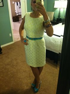 Dress - Dillards  Belt - Marshall's  Bracelets - TJ Maxx and Forever 21  Ring - Beall's Outlet  Shoes - Dillards clearance