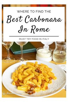 The Best Carbonara In Rome Pasta Alla Carbonara, Carbonara Sauce, Pork Cheeks, Best Pasta Dishes, British Dishes, European Travel Tips, Food Stall, Malaysian Food, Just Cooking