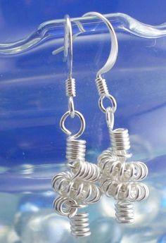Small Coiled Earrings - Silver Wire   gemsbyjerri - Jewelry on ArtFire