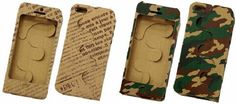 Recycled Style iPhone Case In Cardboard