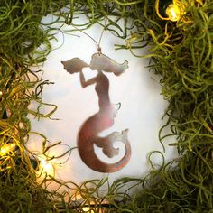 trumpeting mermaid – Thistlehandmade Mermaid, Ornaments, Animals, Animales, Animaux, Animal, Christmas Decorations, Animais, Ornament
