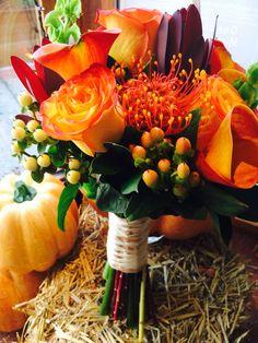 Bridal bouquet.. Fall wedding flowers by carole NY