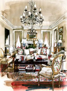 Interior Watercolor