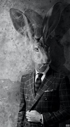 ~ smoking rabbit masquerade ~ Seriously, why this weird obsession of people with animal heads in vintage photography? Animal Masks, Animal Heads, Lapin Art, Chesire Cat, Rabbit Art, Jack Rabbit, Rabbit Head, Arte Obscura, Photocollage