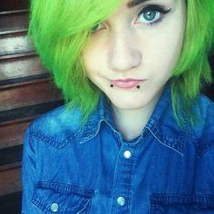 Lime hair ♥ Green hair ♥
