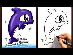 How to draw a cute cartoon.