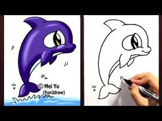 """How to draw a cute cartoon orca in 1 min! Mei Yu shows you how to draw a chibi orca whale step by step in this easy drawing tutorial. Watch 100+ how to draw animals & people videos:  http://www.youtube.com/fun2draw    """"How to draw a whale"""" - """"how to draw a cartoon whale"""" - """"how to draw a killer whale"""" - """"how to draw cartoons"""" is easy in this simpl..."""