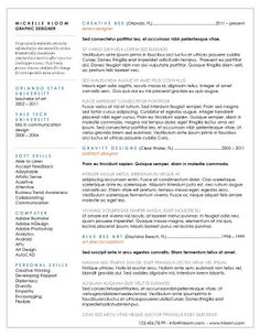 resume professional template
