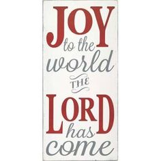 Joy the the World The Lord Canvas Art - Erin Deranja (10 x 20)
