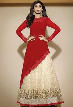 Red Georgette Lehenga Salwar Kameez 38034