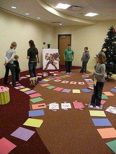 Library brings Candyland alive, program from Wayne County Public Library. I've done this several times with kids, teens and whole families! Always is a huge hit. We do the same board for trivia questions: Harry Potter, LOTR, Twilight, etc.