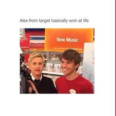 He was on Ellen today. I was rolling