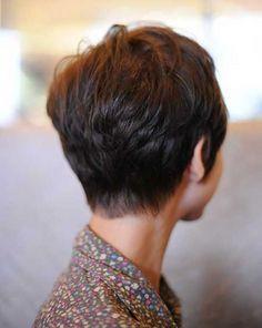 Backs of short haircuts