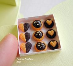 Миниатюрное печенье в коробочке от Pavlysha на Etsy