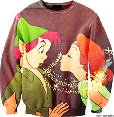 Peter Pan and Wendy Sweatshirt. Peter Pan is my favorite Disney movie! Disney Outfits, Cute Outfits, Disney Clothes, Peter Pan Shirt, Disney Sweaters, Disney Shirts, Disney Sweatshirts, Vogue, Pullover