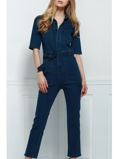 SHARE & Get it FREE | Denim Patch Pocket Flared JumpsuitFor Fashion Lovers only:80,000+ Items • New Arrivals Daily Join Zaful: Get YOUR $50 NOW!