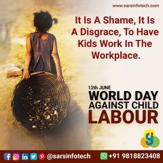 We should condemn the practice of child labour and take necessary actions against the issue!  #WorldDayAgainstChildLabour #childlabour #Humanity #children #childlabour #streetstorytelling #child #childhood #childlovers #SaveChildren #ZeroChildLabour #childeducation #childdevelopment #educationispower #learningfromhome #homeeducation #learninganddevelopment #learningisfun #learnathome #educationforall #childempowerment #basichumanrights #educationisaright #endglobalpoverty #empoweringothers Child Labour, World Days, Education For All, Best Web Design, Web Design Company, Working With Children, Child Development, Workplace, Storytelling