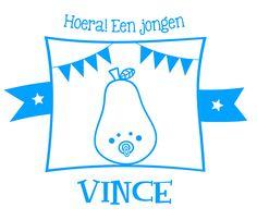 Geboortesticker type Vince
