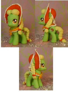 Filly Granny Smith Custom My Little Pony by SanadaOokmai on DeviantArt Crochet Cross, Granny Smith, My Little Pony Friendship, Over The Rainbow, Cute Images, Crochet Projects, Little Ones, Character Art, Elf