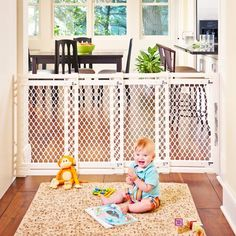 North States Wide Extra-Wide Baby Gate: Smoothly Opens and Closes in Extra-Wide Spaces. Fits Wide Tall, Ivory) >>> Check this awesome product by mosting likely to the web link at the picture. (This is an affiliate link). Steps Design, Gate Design, House Design, Extra Wide Baby Gate, Retractable Gate, Child Safety Gates, Kids Gate, Pet Door, Baby Door