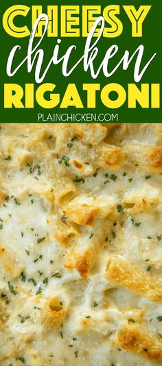 The whole family cleaned their plates and went back for seconds! Such an easy… Chicken Rigatoni, Cheesy Chicken Pasta, Chicken Soup, Chicken Recipes, Rotisserie Chicken, Chicken Gravy, Stuffed Chicken, Chicken Meals, Creamy Chicken