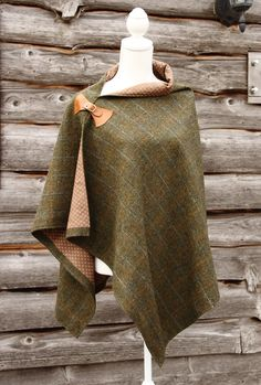 Harris Tweed Fern Wrap