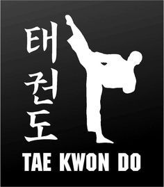 Tae Kwon Do Vinyl Decal Taekwondo Martial Arts Car Window Sticker Taekwondo Tattoo, Taekwondo Quotes, Tae Kwon Do, Karate, Plasma Cutter Art, Muay Thai Kicks, Figure Poses, Hapkido, Sports Art