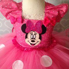 Rojo rojo Minnie Mouse tutu Vestido de por Tutucutebowtique16