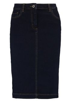 Soaked in Luxury COLLIN - Spódnica jeansowa - dark blue denim - Zalando.pl