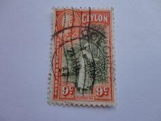 9c. Plucking tea Ceylon Postage Stamp