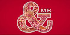 one point oh: typo graphic prints, entitled You & Me.